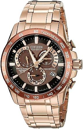 5bfe11e6fe7e Citizen Men s Eco-Drive Perpetual Chrono Atomic Timekeeping Rose Gold-Tone  Watch