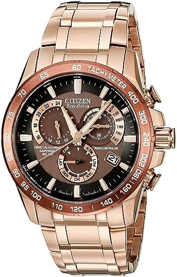 81ac5bebf2df Citizen Men s Eco-Drive Rose Goldtone Perpetual Chrono A-T Watch