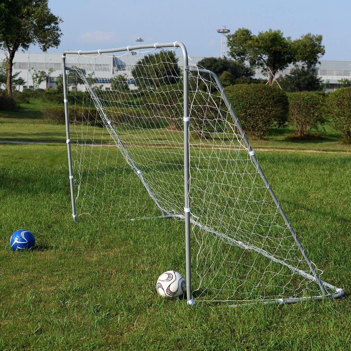 Giantex 12 x 6 Ft Soccer Goal w/ Net, Steel Frame and Velcro Straps, Indoor Outdoor Backyard Kids Children Soccer Goal by Giantex (Image #3)