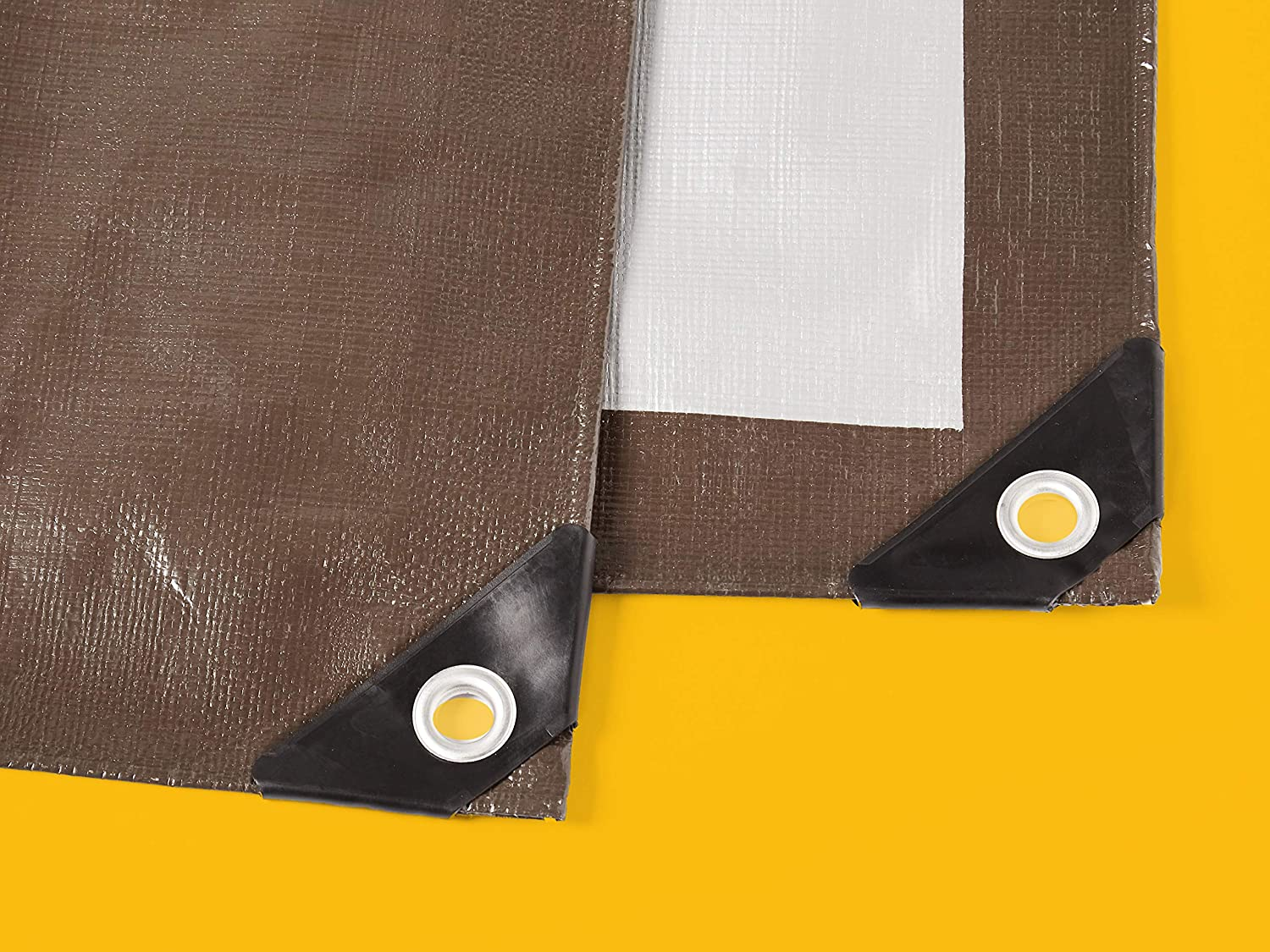 10MIL Thick 10 X 15 FT 2-Pack Commercial Multi Purpose Waterproof Poly Tarp Cover Brown//Silver
