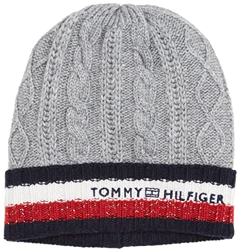 Tommy Hilfiger Cable Corporate Beanie, Cuffia Donna