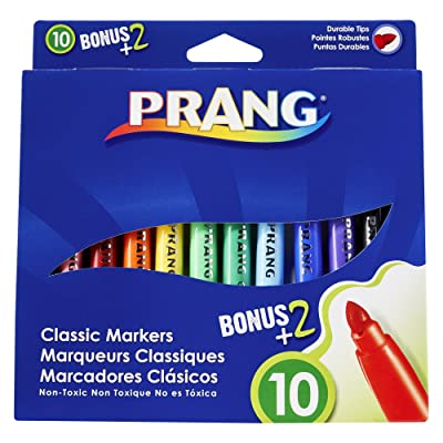 Prang Classic Art Markers, Bullet Tip, Assorted Colors, 12 Count (80012): Office Products