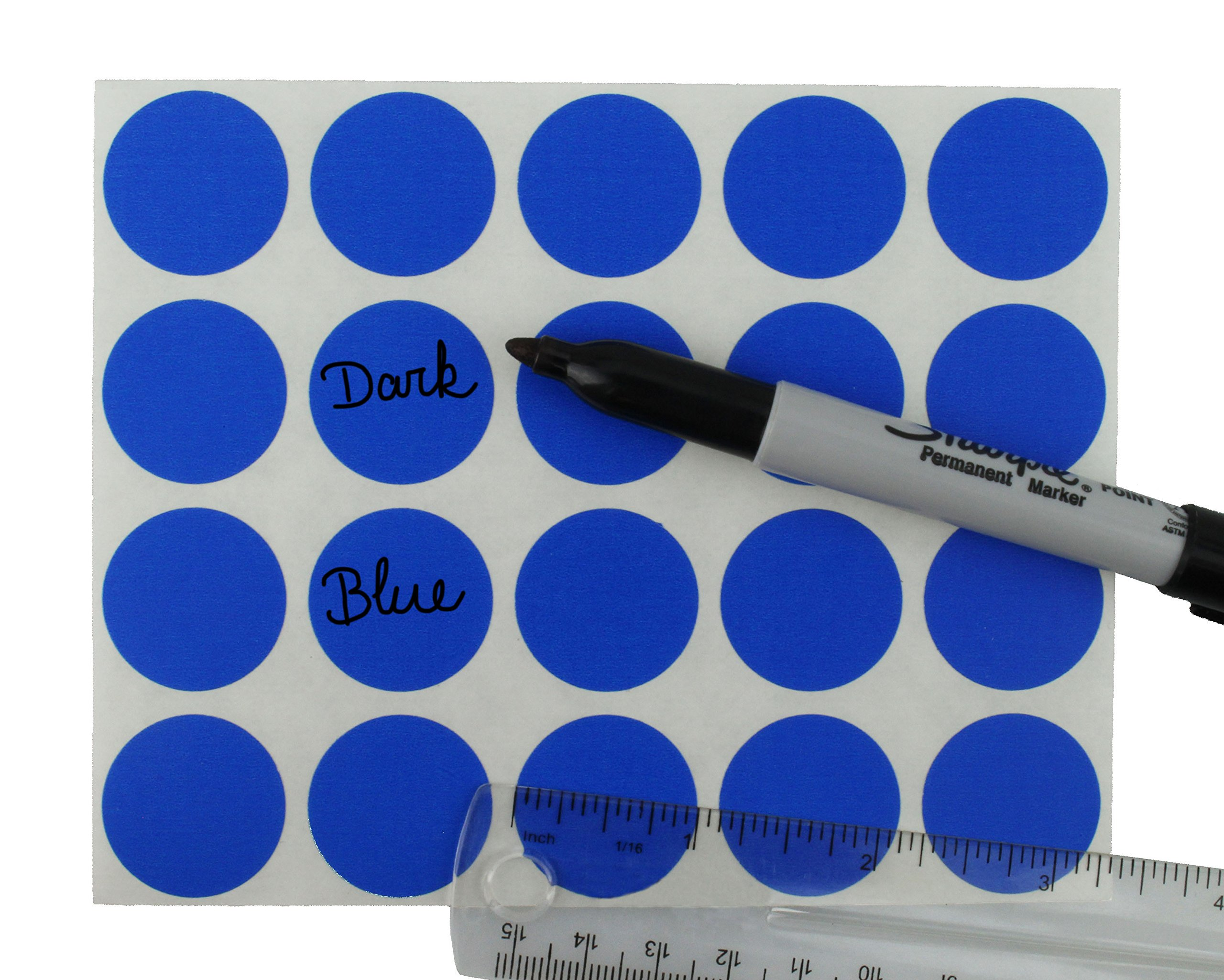 Removable Color-Code Dot Label Kit | 5 Assorted Standard Colors | 1200/Pack (1 inch) by ChromaLabel (Image #4)