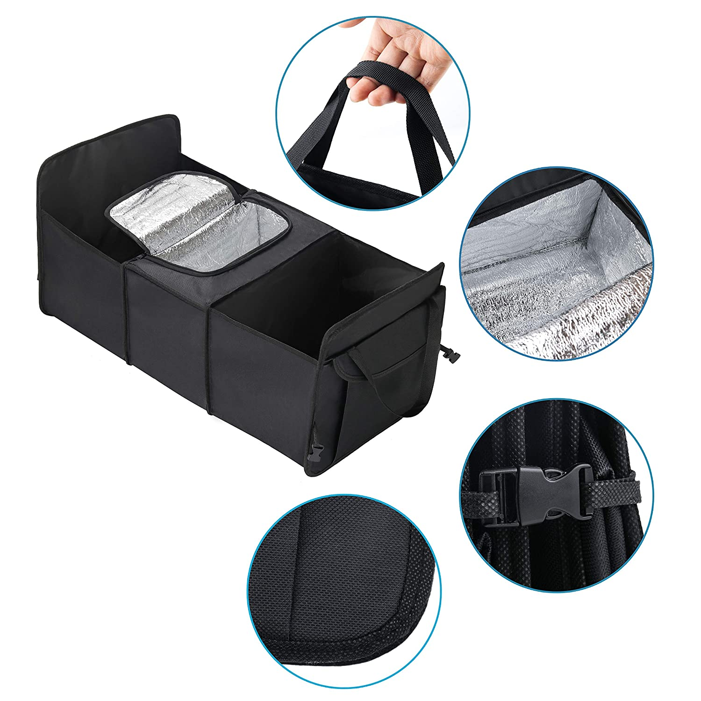 Rot CUSXY Auto Kofferraumtasche Faltbar Organizer Tragbar Auto Kofferraum Aufbewahrungstasche Taschen f/ür Auto-SUV Minivan MPV mit Isolierung /& EIS Lagerung