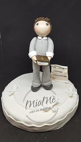 Bambinoragazzo Prima Comunione Cake Topper Top Torta Statuina