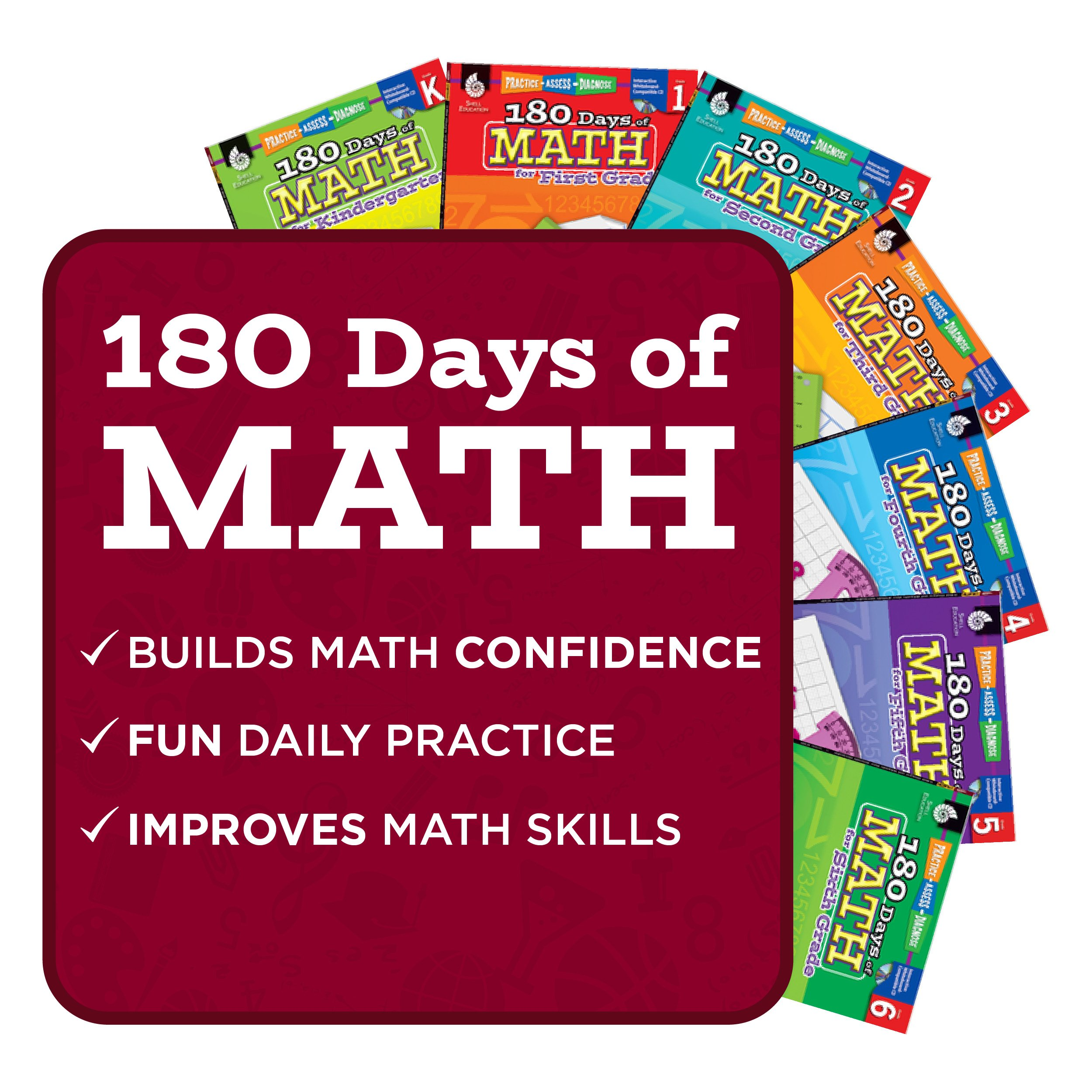 180 Days of Practice for Second Grade (Set of 3), 2nd Grade Workbooks for  Kids Ages 6-8, Includes 180 Days of Reading, 180 Days of Writing, 180 Days