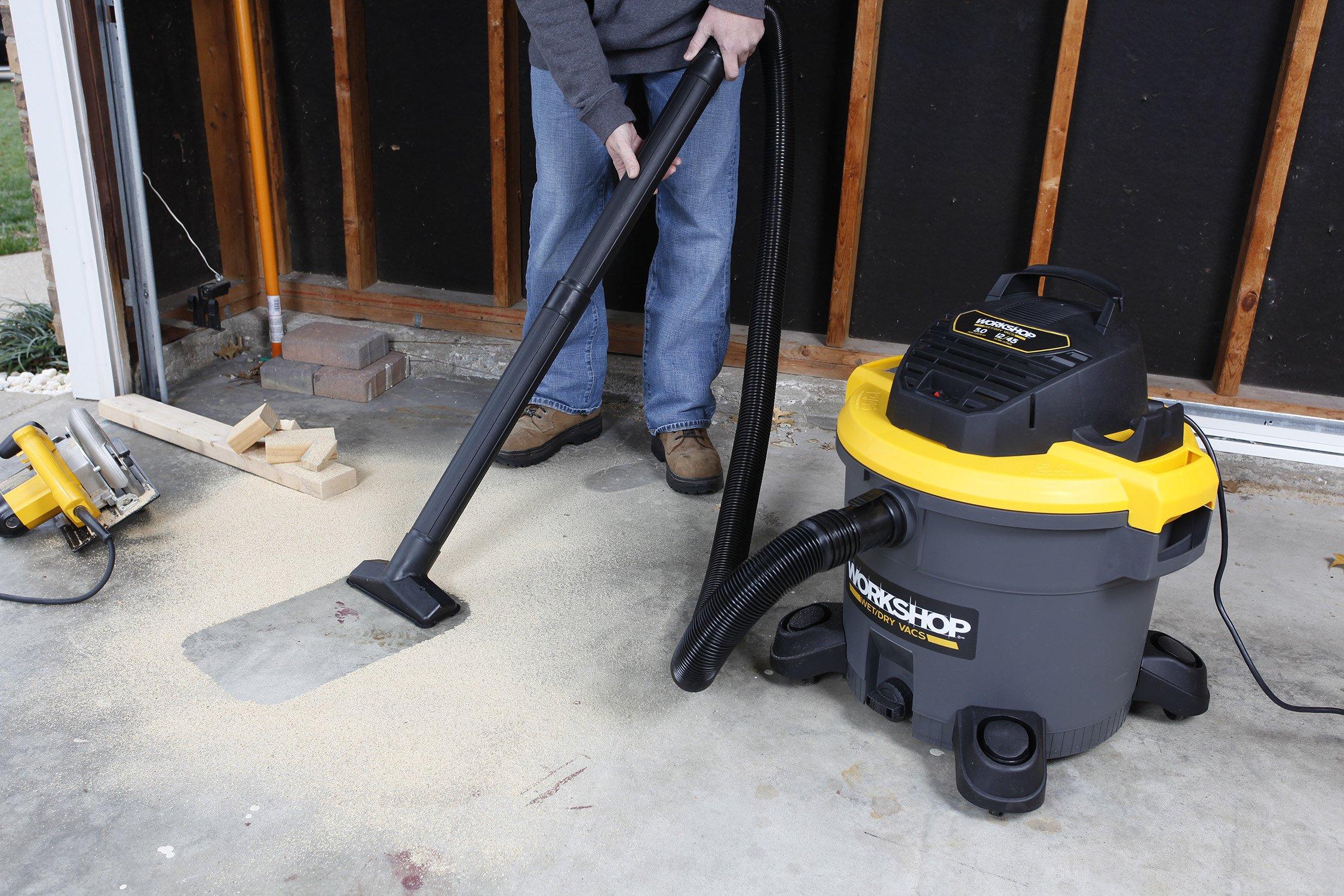 WORKSHOP Wet Dry Vac WS1200VA Heavy Duty General Purpose Wet Dry Vacuum Cleaner, 12-Gallon Shop Vacuum Cleaner, 5.0 Peak HP Wet And Dry Vacuum by Workshop (Image #4)