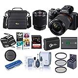 Sony Alpha a7 III 24MP UHD 4K Mirrorless Camera with 28-70mm Lens - Bundle 32GB SDHC U3 Card, Camera Case, 55mm Filter…