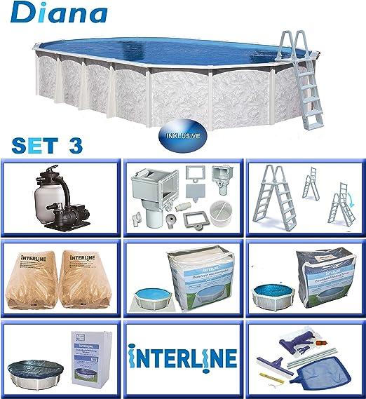 Interline 50000053 Diana A y 96188 Piscina Juego 3 acero pared ...
