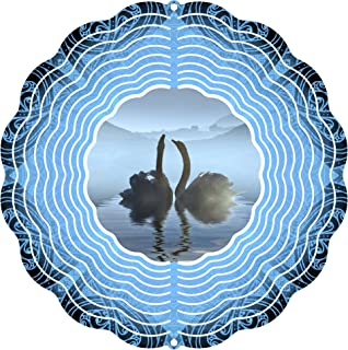 """product image for Next Innovations 101408001-SWANLAKE Wind Spinner, 10"""" Diameter, Multicolor"""