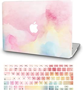 "KECC Laptop Case for MacBook Air 13"" w/Keyboard Cover Plastic Hard Shell Case A1466/A1369 2 in 1 Bundle (Rainbow Mist)"