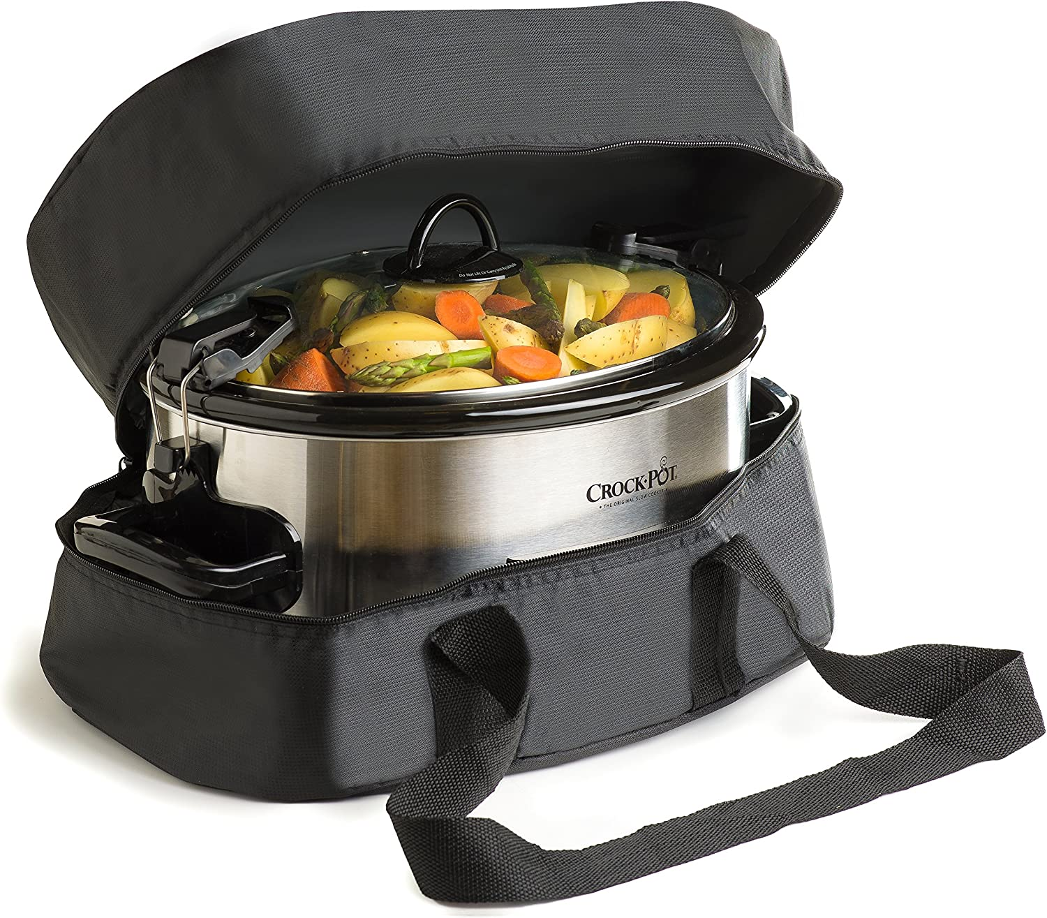 "Thermal Slow Cooker Travel Bag For The""Crock Pot"" 6 and 7 Quart""Oval Slow Cooker"""