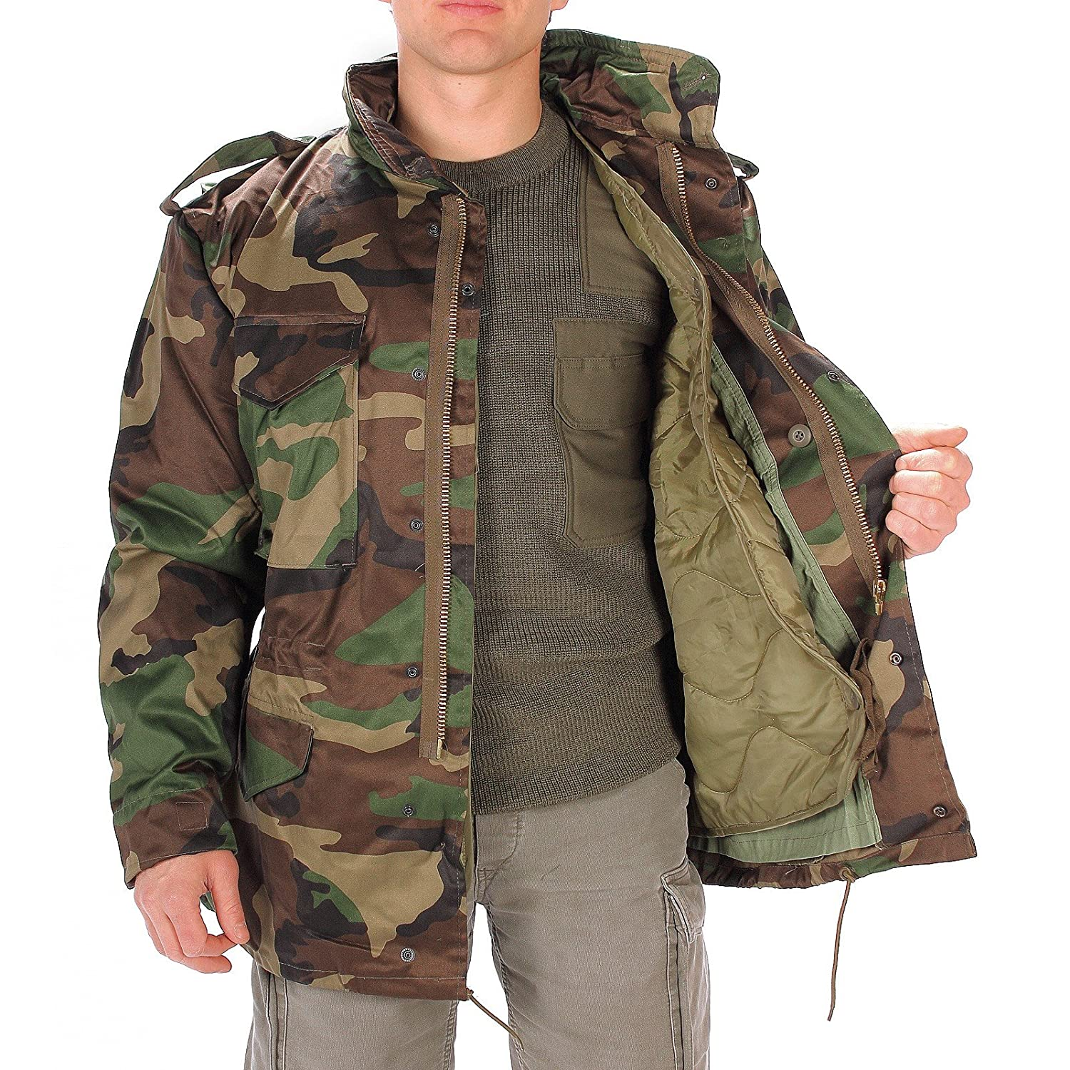 CamoOutdoor Men s M65 Woodland Field Jacket at Amazon Men s Clothing store  546661a0298