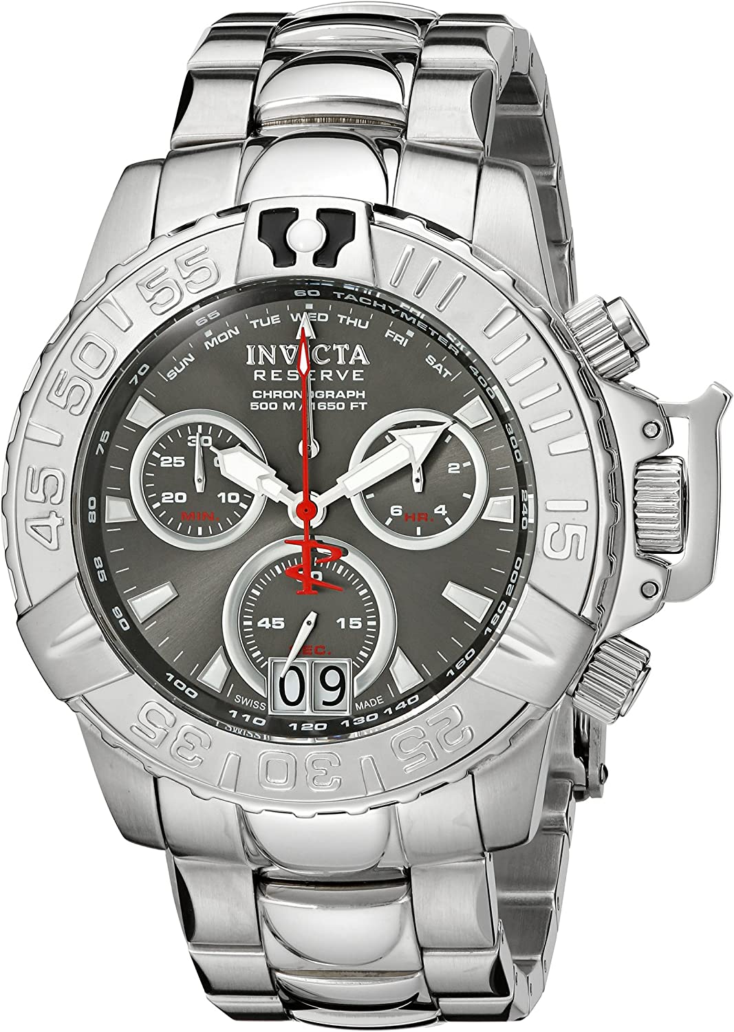 Invicta Men s 10645 Subaqua Noma II Chronograph Grey Dial Stainless Steel Watch
