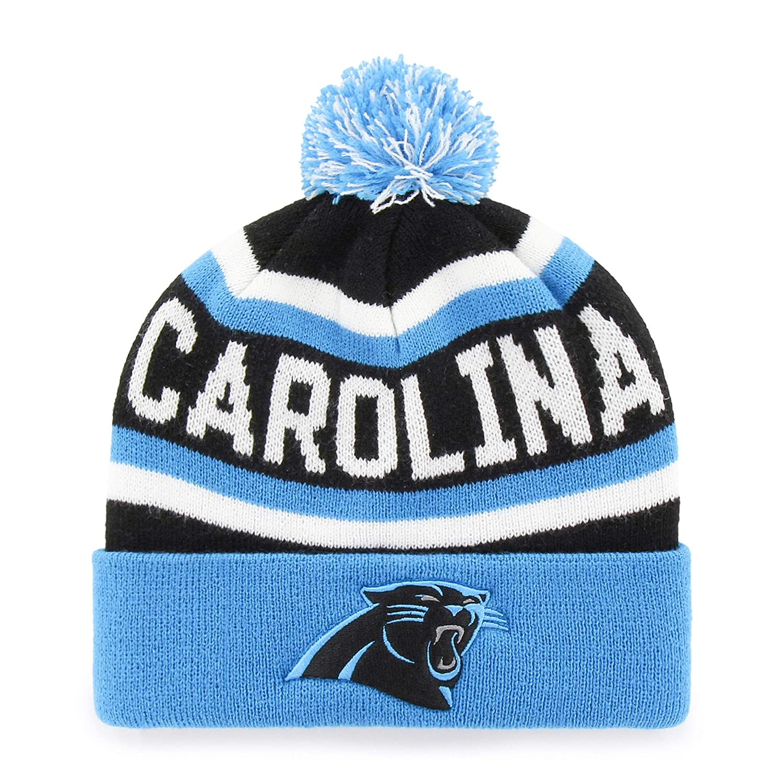 NFL ジャスパー OTS カフニットキャップ ポンポン付き フリーサイズ One Size Carolina Panthers B0728JV8QY
