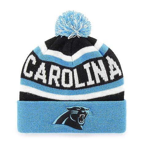 e9dd20cbc2e Amazon.com   NFL Carolina Panthers Jasper OTS Cuff Knit Cap with Pom ...