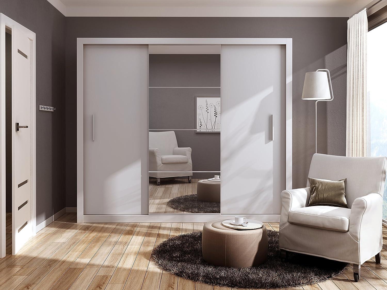 Dormitorio moderno armario puerta corredera Idea Blanco Mate 250 cm se vende por Arthauss: Amazon.es: Hogar