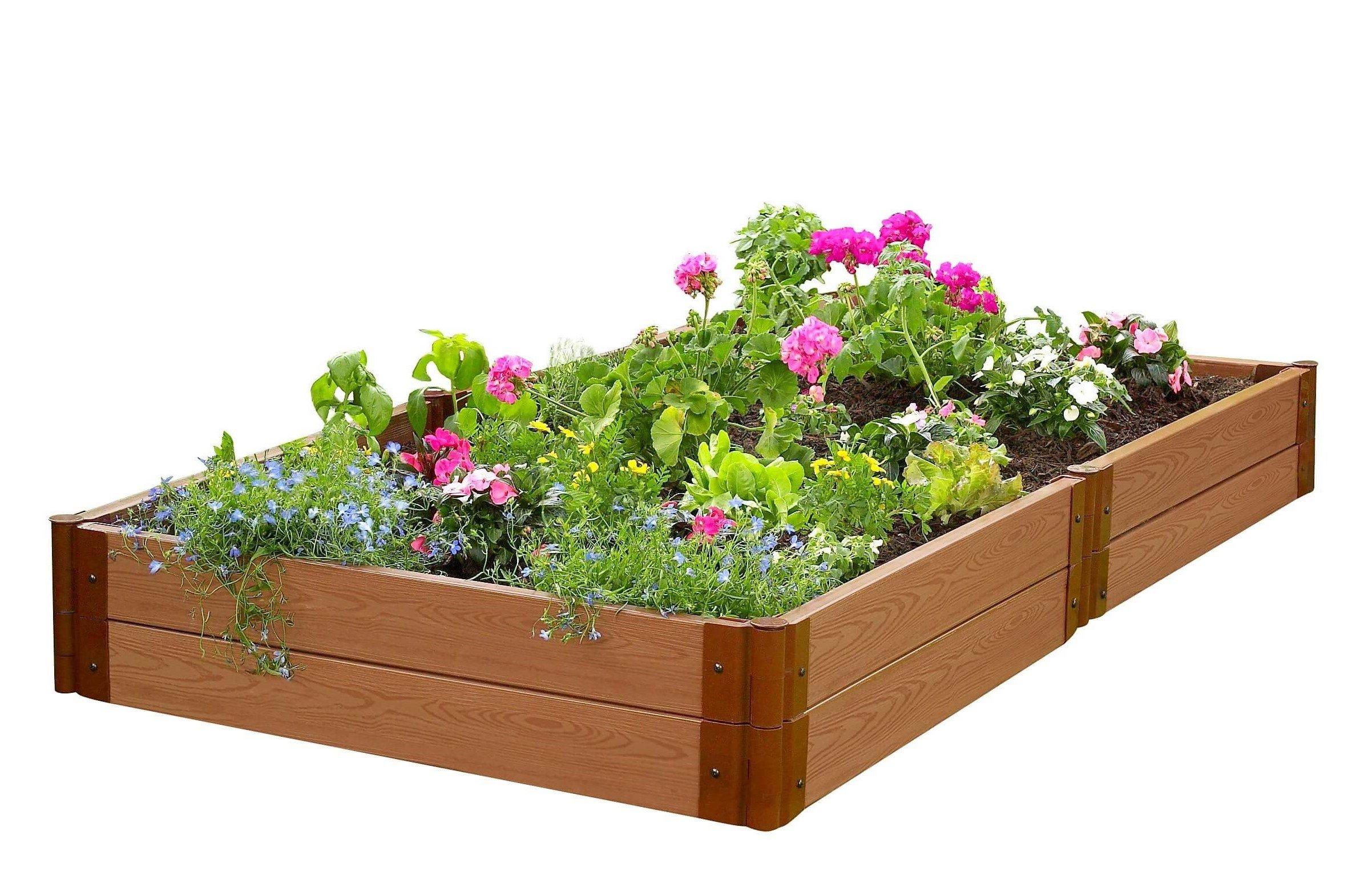 Two Inch Series 4ft. x 8ft. x 11in. Composite Raised Garden Bed Kit by Frame It All