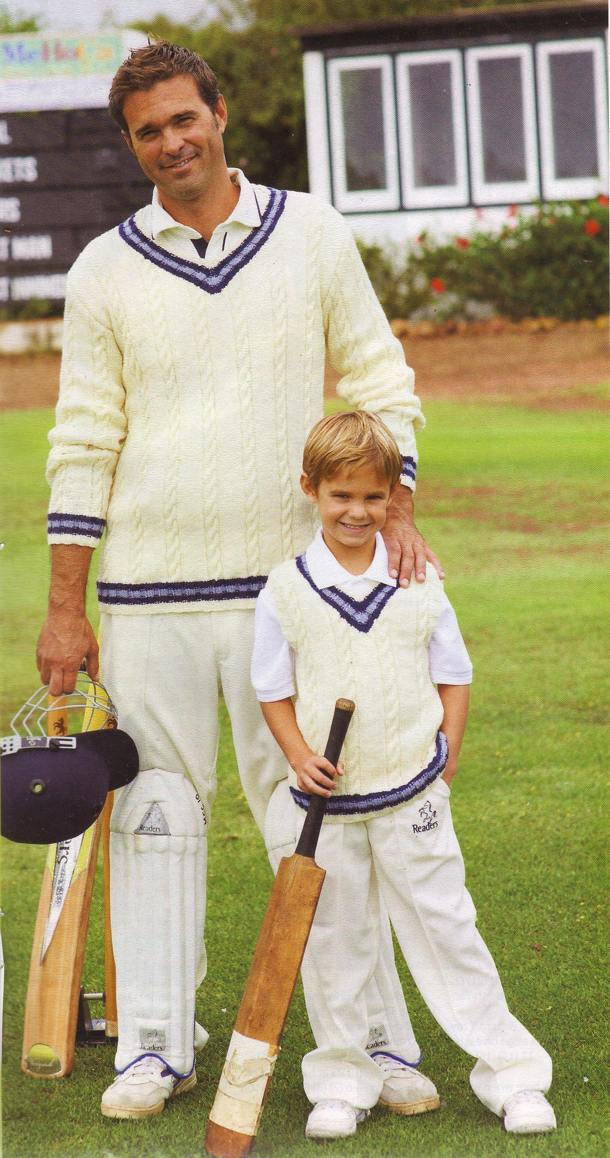 2940 61cm-117cm King Cole Boys Cricket Sweaters Mens DK Knitting Pattern