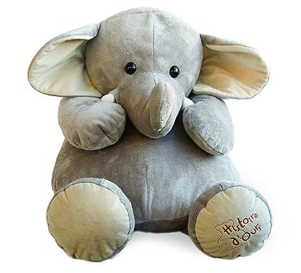 Histoire dours HO1285 - Elefante de peluche, tamaño grande