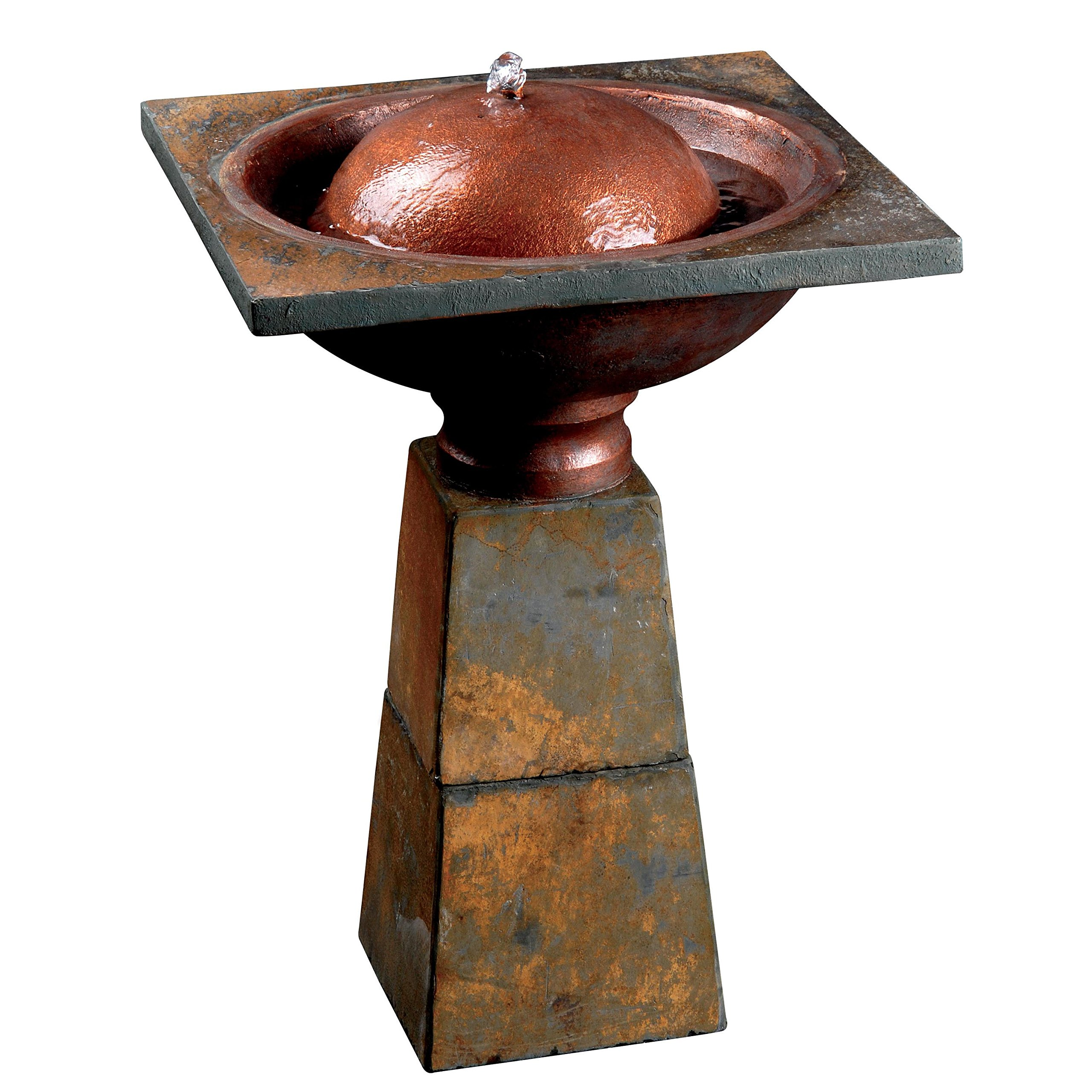 Design Craft Lusevera Slate Birdbath Fountain