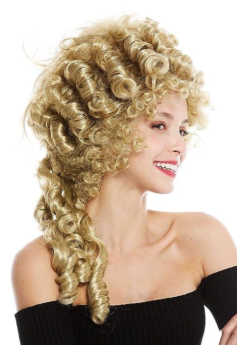 WIG ME UP ® - 91029-ZA89 Parrucca Donna Carnevale Storica Barocco Nobiltà  Biondo Maria 3991f97bf66