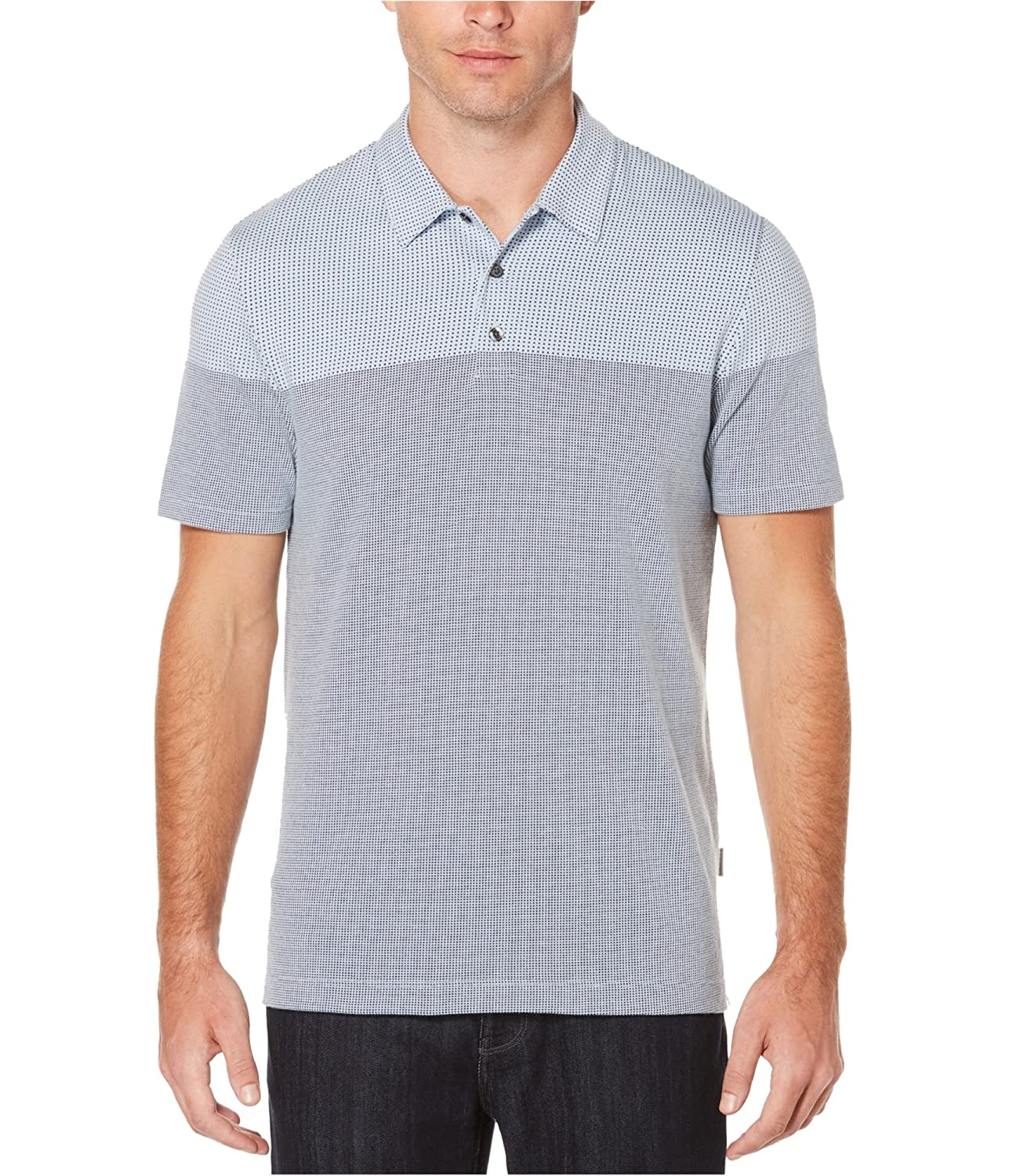 Perry Ellis Mens Luxe Rugby Polo Shirt