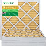 FilterBuy 20x20x1 MERV 11 Pleated AC Furnace Air Filter, (Pack of