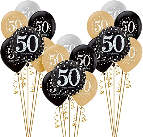 Amazon.com: Party City Sparkling Celebration - Globo para 50 ...
