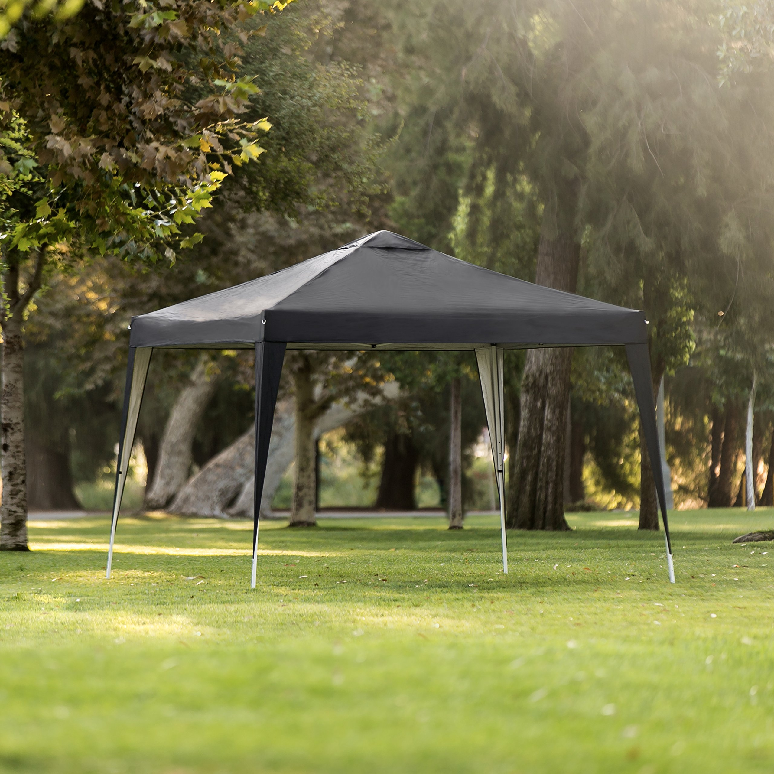 Best Choice Products 10x10ft Outdoor Portable Lightweight Folding Instant Pop Up Gazebo Canopy Shade Tent w/Adjustable Height, Wind Vent, Carrying Bag – Black