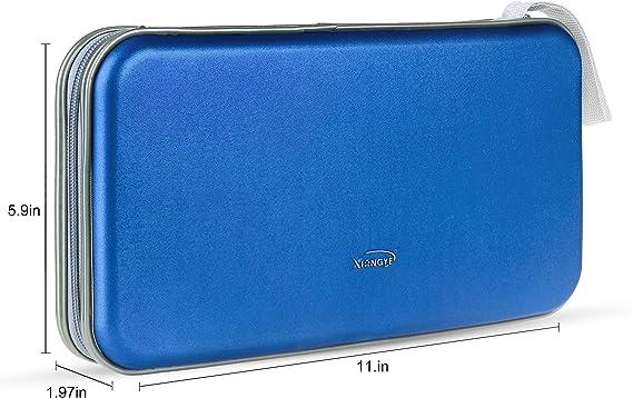 Pingenaneer Porta CD, Estuche CD de 80 Disco Almacenamiento DVD Funda Protectora, Azul: Amazon.es: Hogar