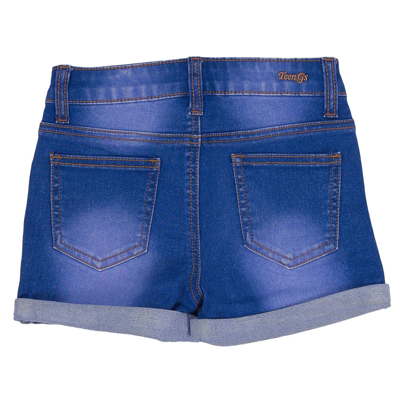 Teens Gs Big Girl Denim and Twill Shorts 201 Blue wash