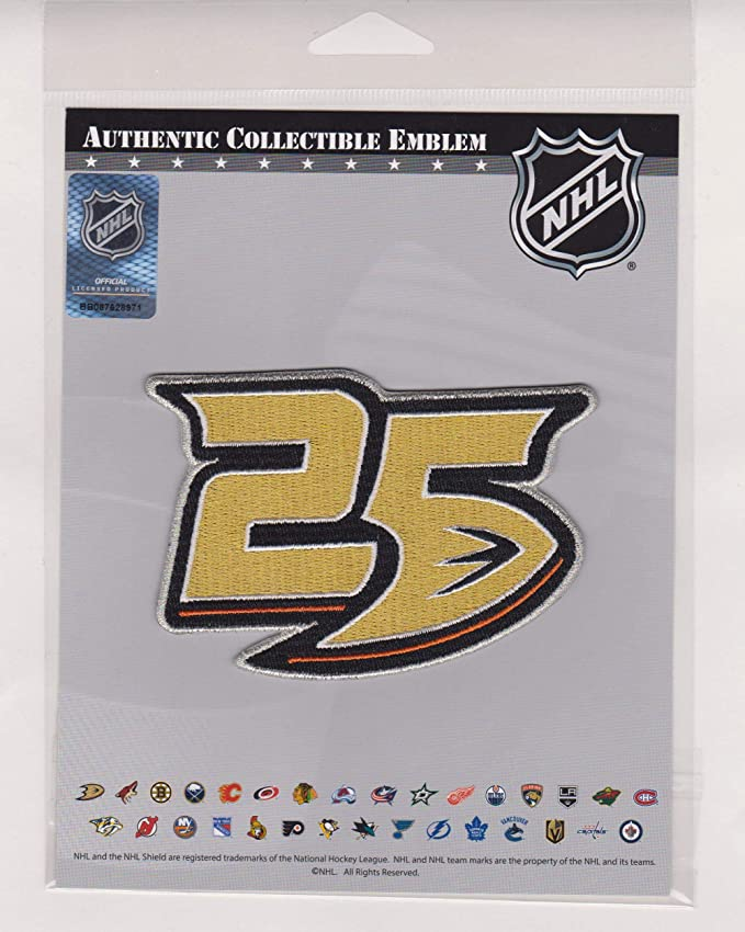 National Emblem Official Licensed Anaheim Ducks 25th Anniversary Patch Team Exclusive