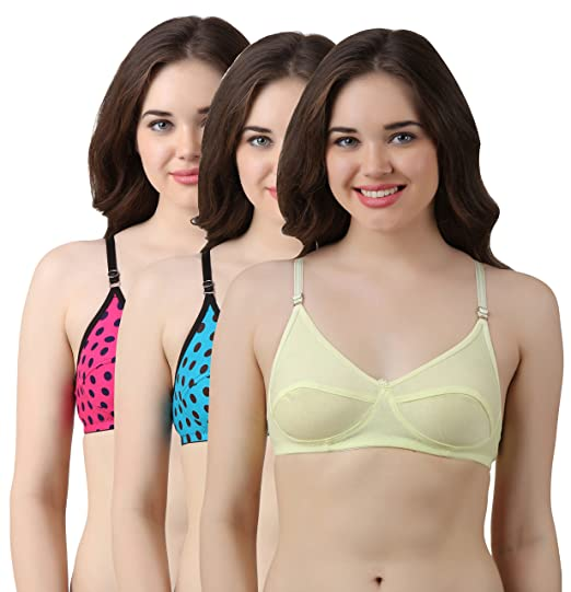 aa49d6daef Asmi Creation Cotton Bra(Combo Pack of 3) (40)  Amazon.in  Clothing ...