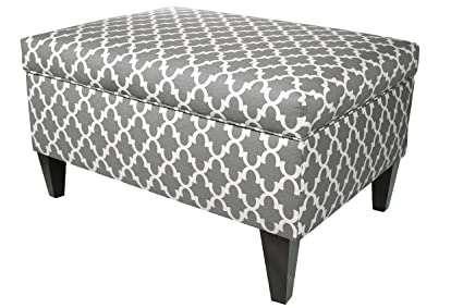 MJL Furniture Designs Brooklyn Collection Large Upholstered Living Room  Lift Top Storage Ottoman, Fulton Series