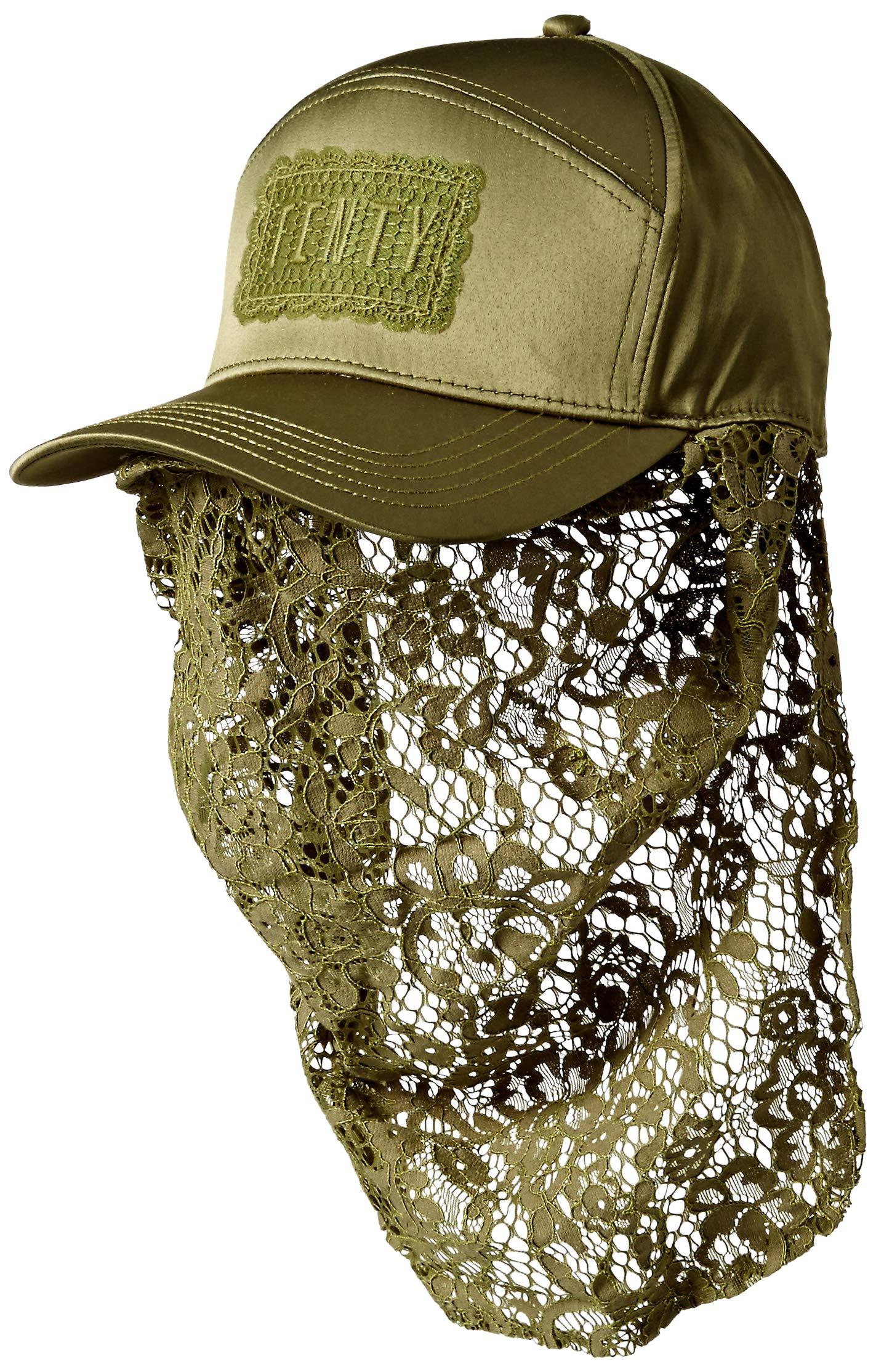 PUMA Women's Fenty Masked Cap LACE, Olive Branch Adult