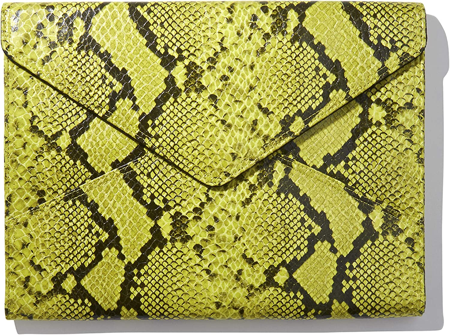 Sonix Faux Snakeskin Leather Laptop Case Padded Envelope Sleeve for MacBook, Notebooks, Laptops (15 inch, Green Python Leather)