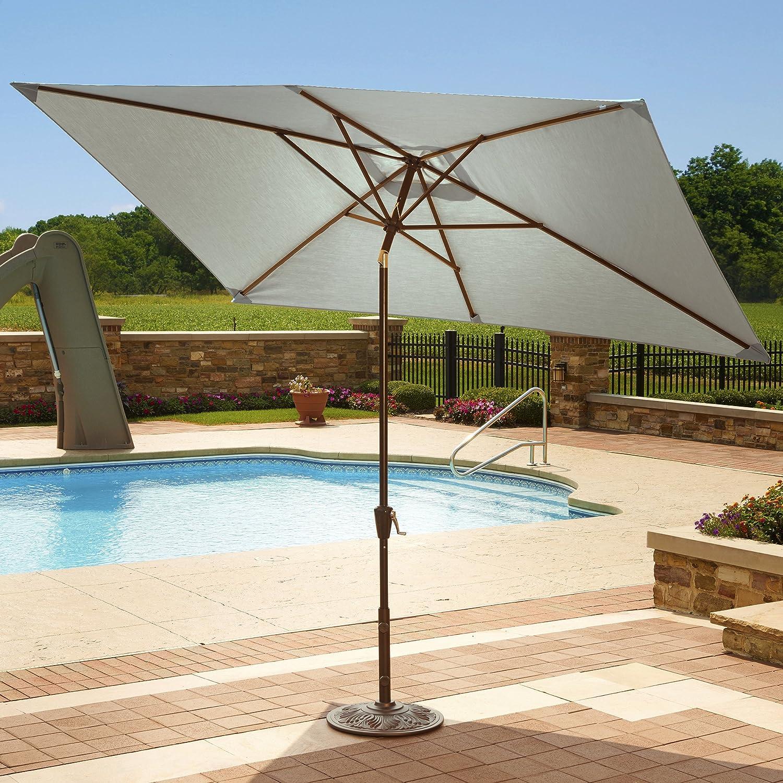 Amazon.com : Adriatic 6.5 Ft X 10 Ft Rectangular Market Umbrella In  Champagne Olefin : Patio Umbrellas : Garden U0026 Outdoor