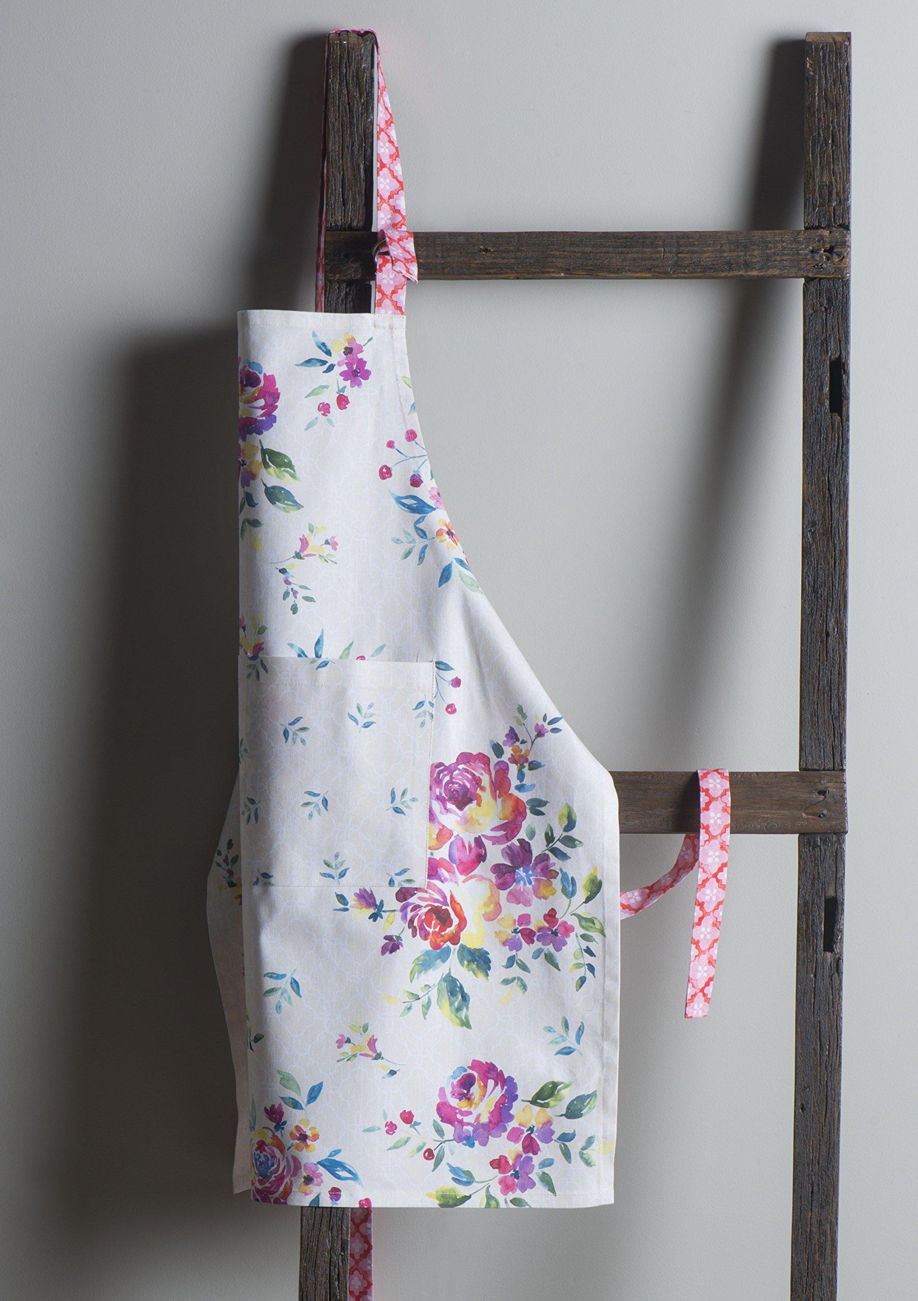 Maison d' Hermine Rose Garden 100% Cotton Apron with an adjustable neck & Visible center pocket 27.50 Inch by 31.50 Inch by Maison d' Hermine (Image #7)