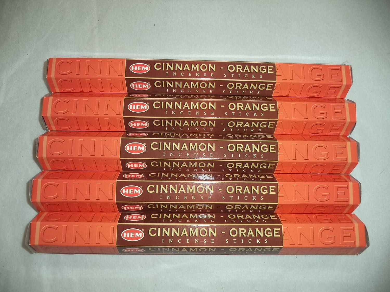 Hemシナモンオレンジ100 Incense Sticks (5 x 20スティックパック) B00JKT5KCK