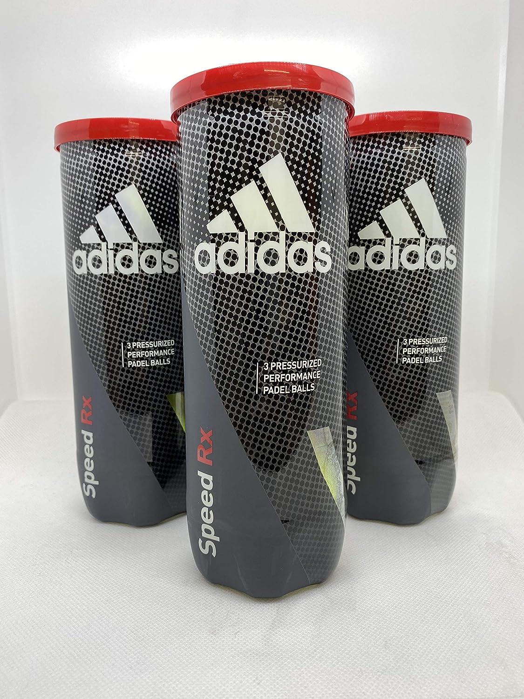 adidas Balls Speed RX pádel, Adultos Unisex, Yellow, Talla Única (3 Botes)