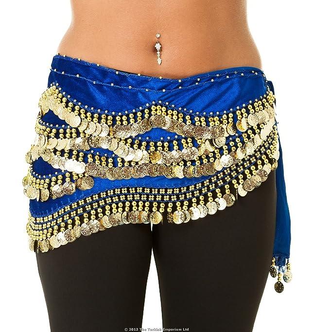 Cintura in velluto con perline per la danza del ventre: Amazon.it:  Abbigliamento