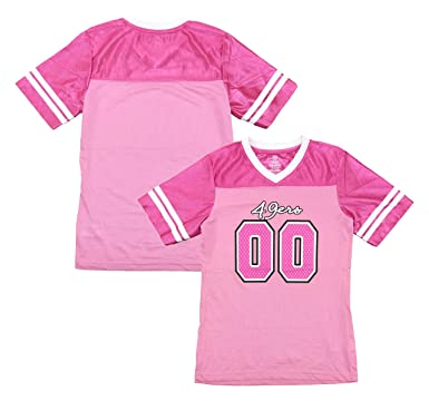 83d8b1a9d San Francisco 49ers Logo  00 Pink Dazzle Girls Youth Jersey (Medium 7 8