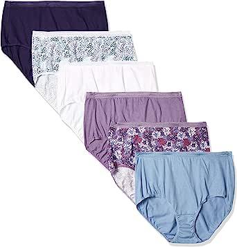 Hanes Women's Signature Breathe Cotton Brief 6-Pack