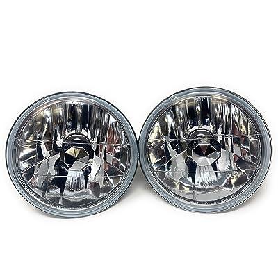 Geniune Glass 7 inch Round Crystal Diamond clear headlights Wrangler LJ H2 Fj JK TJ YJ par56,H6024 H6017 H6014 H6015: Automotive