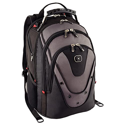 """Wenger 600628 UPDATE 15"""" MacBook Pro Backpack, Anti-scratch lining with dedicated 10"""" iPad Pocket in Black/Grey {20 Litres}"""