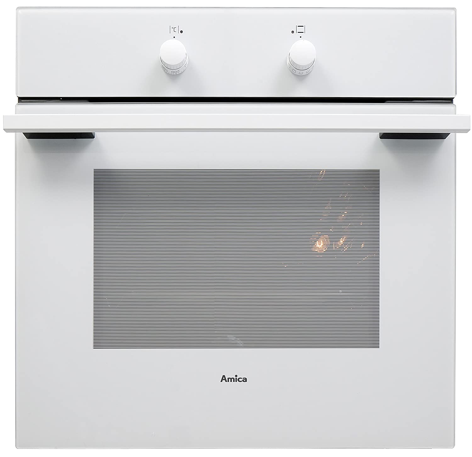 Amica 10533W Built-in Multifunction Oven, 62 Litre, White [Energy Class A]