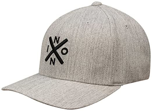 Amazon.com  NIXON Exchange Flexfit Hat - Heather Grey Black  Clothing aae9ba985ad3