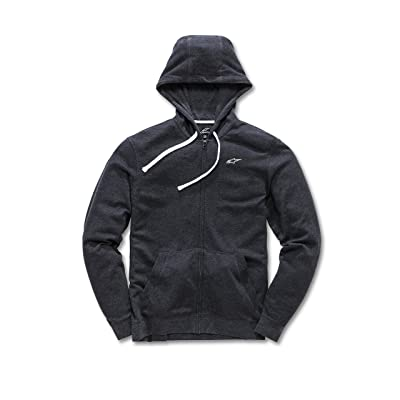 Alpinestars Men's Full Zip Hooded Sweatshirt Modern Fit 200 GSM Logo Fleece: Clothing