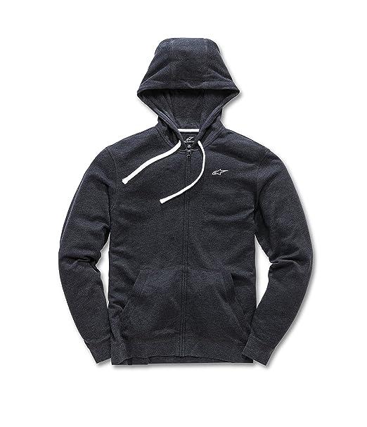 1854b48cf3 Alpinestars Mens Full Zip Hooded Sweatshirt Modern Fit 200 GSM Logo Fleece  Hooded Sweatshirt